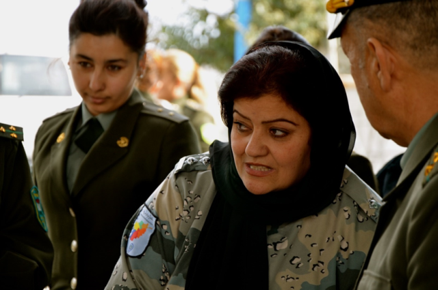 A group of 20 female border guards from Afghanistan and Tajikistan are participating in practical lessons as a part of a 10-day training course in Dushanbe on Border and Immigration Control.